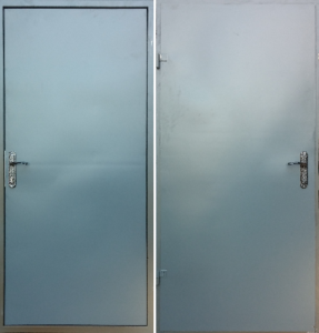 Дверь «Техническая» 2 листа металла.
