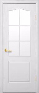 Дверное полотно «Симпли полустекло» со стеклом