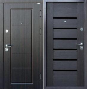 Дверь «Стандарт Мира/Линнея BLK» квартирная