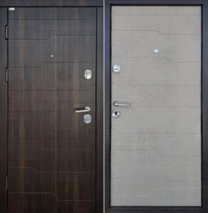 Дверь «Стандарт Волна 3D Двухцветная» квартирная