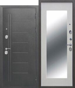 Входная дверь 110мм Троя Серебро MAXI Зеркало