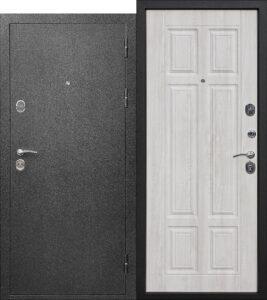 Входная дверь Аляска метал/мдф Сосна белая