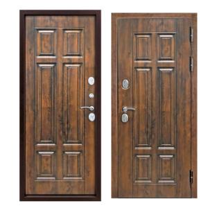Входная морозостойкая дверь c терморазрывом 13 см Isoterma грецкий орех