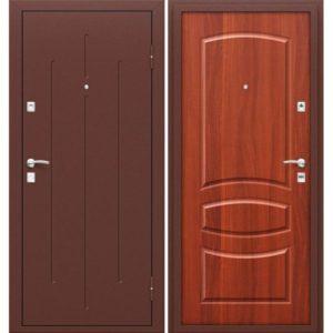 Входная дверь 7-2 метал/хдф Итальянский орех
